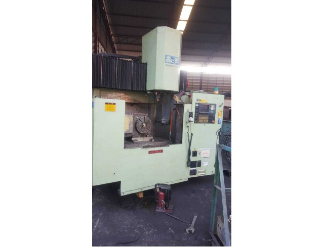 """Ikegai"" 4 Axis Vertical Machining Center Model  TV-5  Year 1990 Control  Fanuc  OM   Work table size 1,100x510 mm X axis travel  1,000 mm Y axis travel  510 mm Z axis travel  520 mm Spindle    Bt-50 Spindle speed  40~4,000rpm"