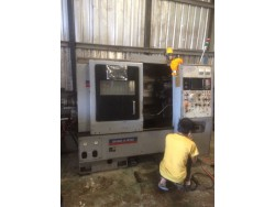 """Okuma Howa"" Cnc Lathe Control  Fanuc 3T With tail stock"