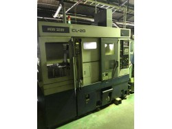 """Mori Seiki"" CL-20 Year 1996 MF-T8 (Fanuc 18T) With Tail Stock And Chip Conveyor Robot Loader"