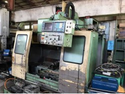 "Mori Seiki"" Cnc Machining Center Model: MV-40 Year 1992 Control  Fanuc  OM Work table size: 1,150x450 mm X axis travel: 800 mm Y axis travel: 410 mm Z axis travel: 510 mm Spindle :  Bt-40 Spindle speed: 50~6,ooo rpm Tool storage capacity: 30 pcs"